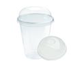 Plastic beker transparant + Gesloten DEKSEL 300ML 25x16 st (400st)